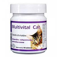 Витаминно-минеральная добавка для кошек Multivital Cat, 90 таб.