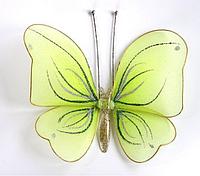 Средняя бабочка Салатовая декоративная для штор и тюлей