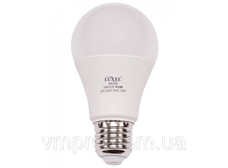 Светодиодная лампа Luxel A60 10W, E27 (ECO 060-NE 10W)