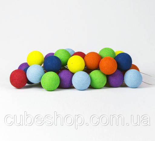 "Тайская LED-гирлянда ""Rainbow"" (20 шариков) на батарейках"