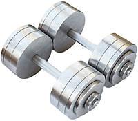 Гантелі складальні 2 * 26 кг (Загальна вага 52 кг) металеві домашні розбірні для дому