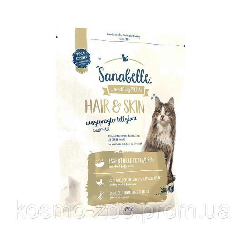 Сухой корм Sanabelle Hair & Skin для здоровья и цвета шерсти, 10 кг