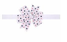 Дитяча пов'язка на голову з принтом зірок - розмір універсальний (на резинці), бантик 8см