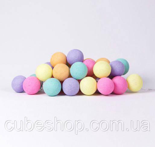 "Тайская LED-гирлянда ""Ice Cream"" (20 шариков) на батарейках"