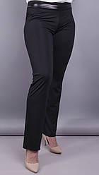Никки весна. Женские брюки больших размеров. Черный