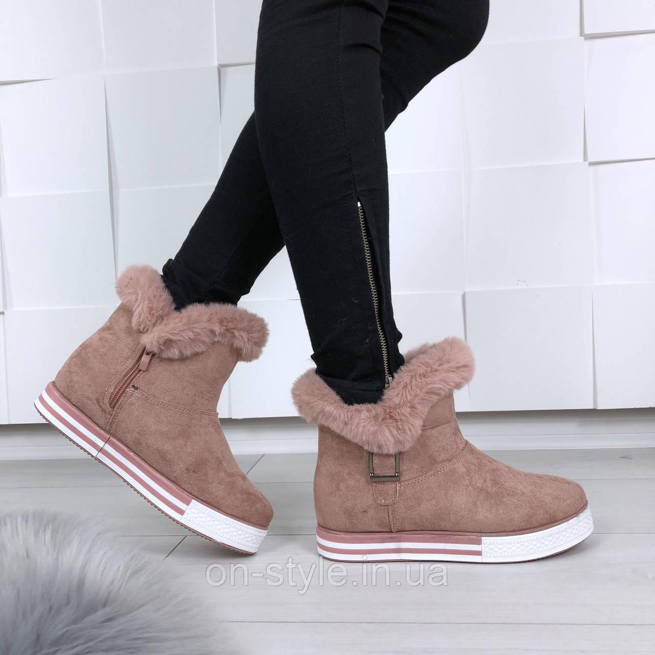 f286cf8f4 Женские розовые ботинки на спортивной подошве - Интернет-магазин