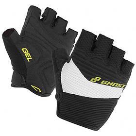 Велоперчатки GHOST XXL Gloves short 2014 черный / белый (14133)