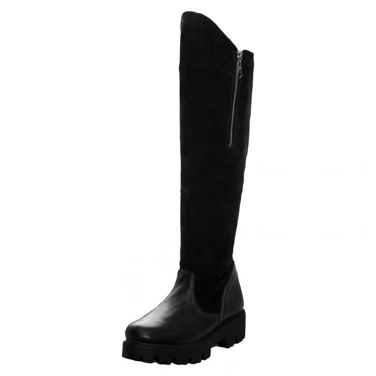 Сапоги женские замшевые с кожаным носком 113
