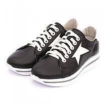 Кроссовки черные со звездами 8040, фото 3