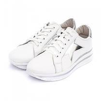 Кроссовки белые со звездами 8041, фото 3