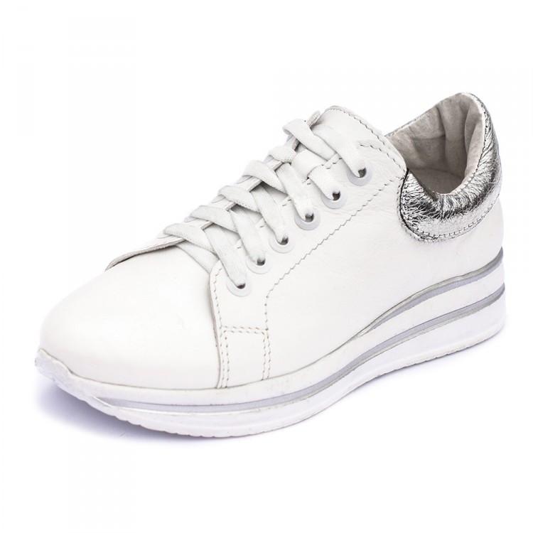 Кроссовки белые кожаные 8051