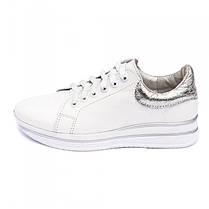 Кроссовки белые кожаные 8051, фото 3