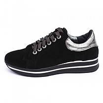 Кроссовки замшевые черные 8053, фото 2