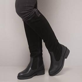 Сапоги женские замшевые с кожаным низом Размеры 36-41