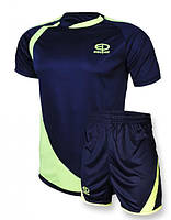 Футбольная форма Europaw 002 т.синяя-салатовая