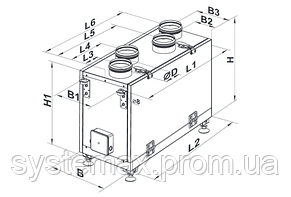 ВЕНТС ВУТ 300 В мини: приточно-вытяжная установка (вертикальная), фото 3