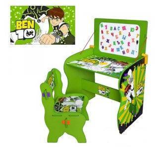 Детская парта со стулом  Bambi М 0435 Ben10, фото 2