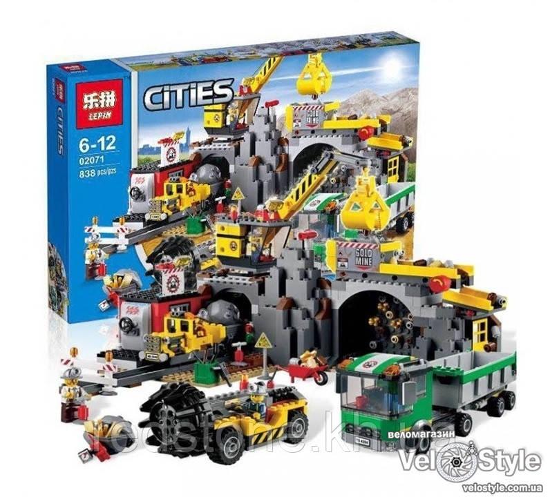 "Конструктор Lepin 02071 (Lego City 4204) ""Шахта"", 838 дет"
