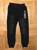 Брюки под джинс для мальчиков на флисе оптом, F&D, 8-16 лет., Арт. 5463, фото 2