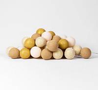 """Тайская гирлянда """"Gold Mix"""" (20 шариков) линия, фото 1"""