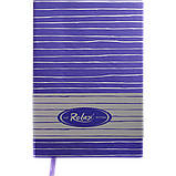 Блокнот деловой RELAX А5 96л. чистый, иск. кожа, фиолетовый, фото 2