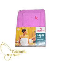 Парео для сауны женское + капюшон, 70*150, лиловый