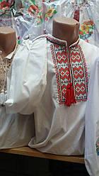 Мужская вышиванка из льна с длинным рукавом