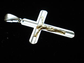 Крестик с позолотой 3,0 см
