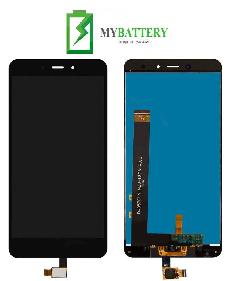 Дисплей (LCD) Xiaomi Redmi Note 4 с сенсором черный