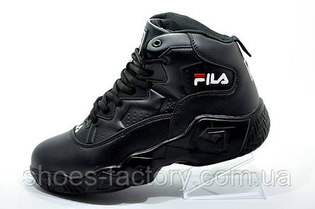 Кроссовки на меху унисекс в стиле Fila MB Mesh, All Black (Зимние), фото 2