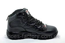 Кроссовки на меху унисекс в стиле Fila MB Mesh, All Black (Зимние), фото 3