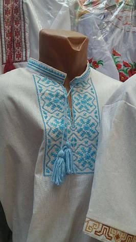 Мужская вышиванка из льна с длинным рукавом, фото 2