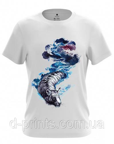 """Футболка мужская с рисунком """"Тигр в воде"""" MF-12-32"""