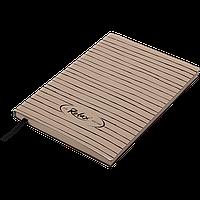 Блокнот деловой RELAX А5 96л. чистый, иск. кожа, капучино