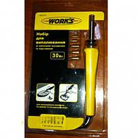 W07114 набор для выжигания, выжигатель Work's, 30W
