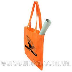 Рекламная эко сумка из спанбонда с логотипом от 300 шт.
