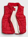 Фирменная жилетка для мальчика GAP на меху красная, фото 2