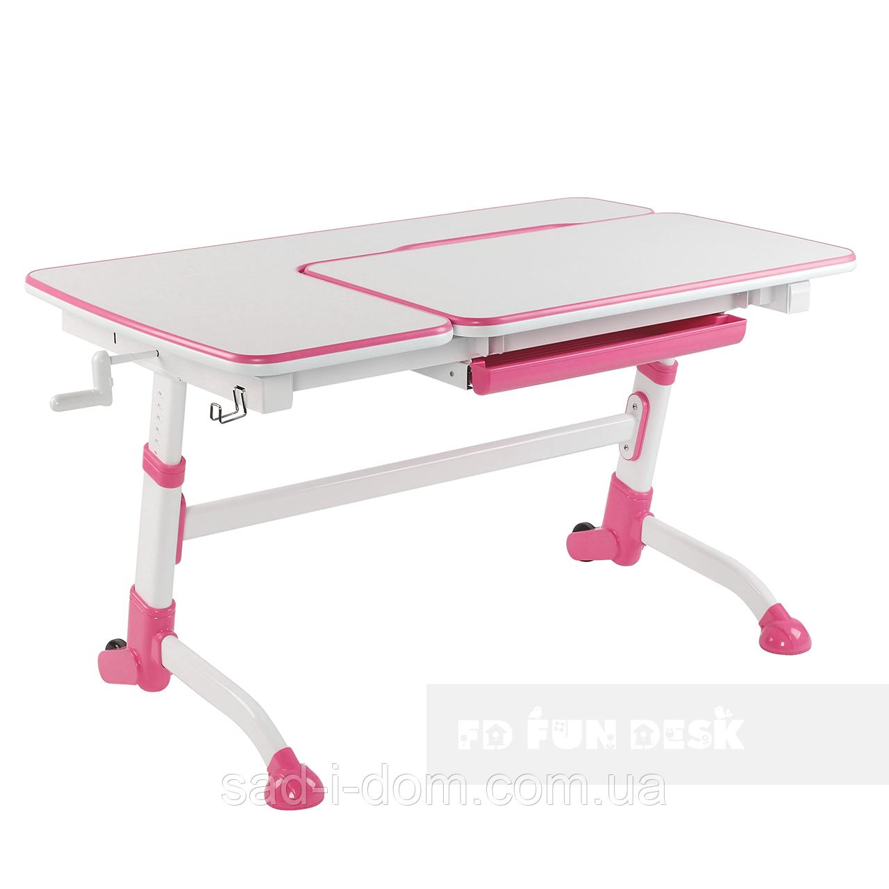 Детская парта-трансформер для девочки FunDesk Amare, розовая