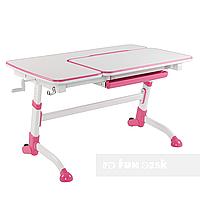Детская парта-трансформер для девочки FunDesk Amare, розовая, фото 1