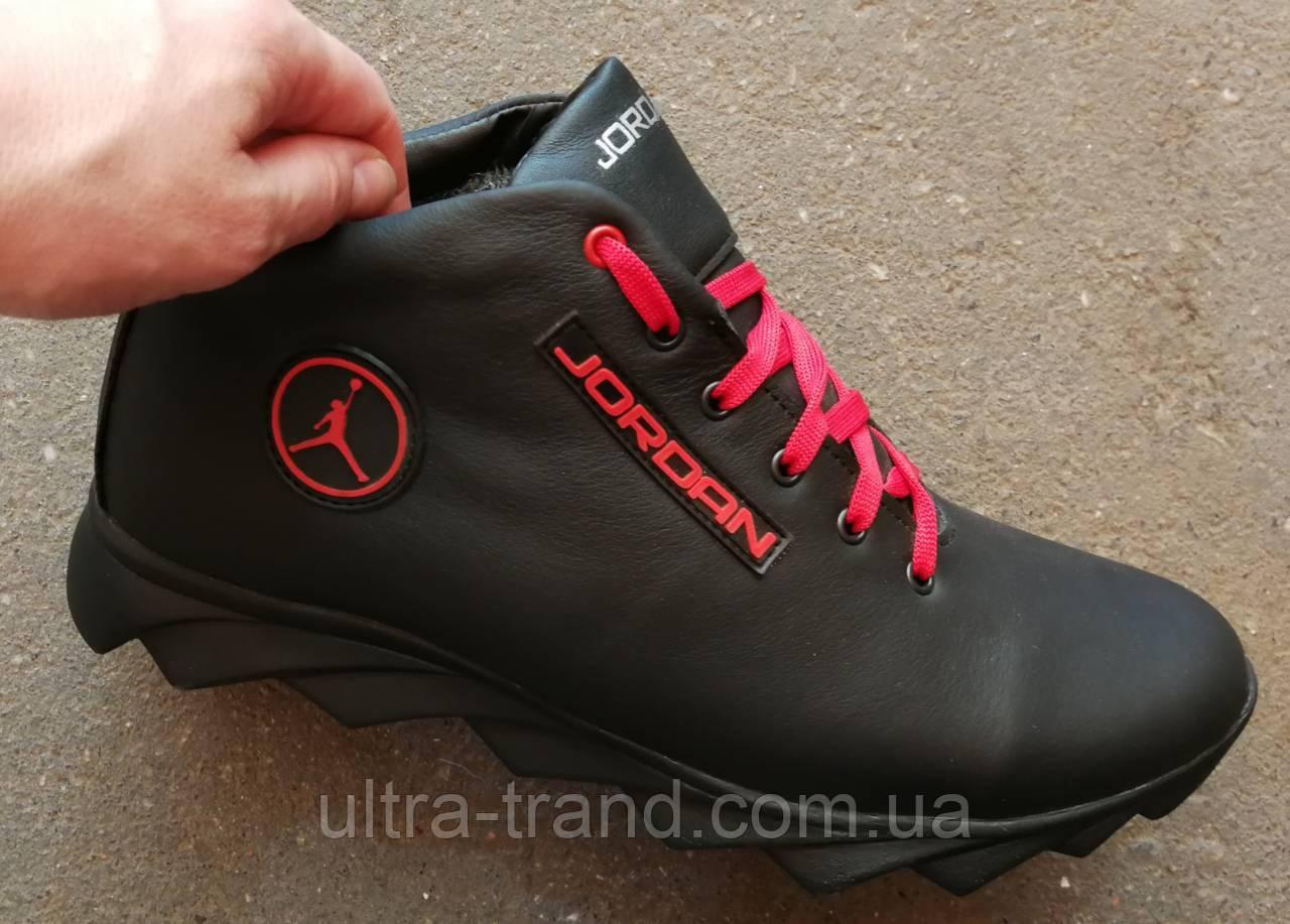 7b270451 Jordan зимние кроссовки! Мужские кросовки натуральная кожа обувь в стиле  Джордан мех, ...