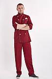 Костюм  поварской мужской, китель, брюки, ткань коттон, фото 2