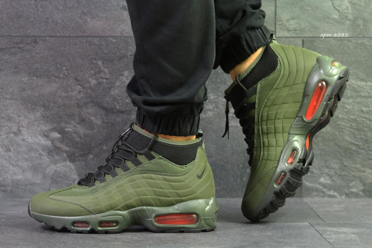 Кроссовки в стиле Nike 95  Sneakerboot (темно зеленые) термо кроссовки код товара 6285