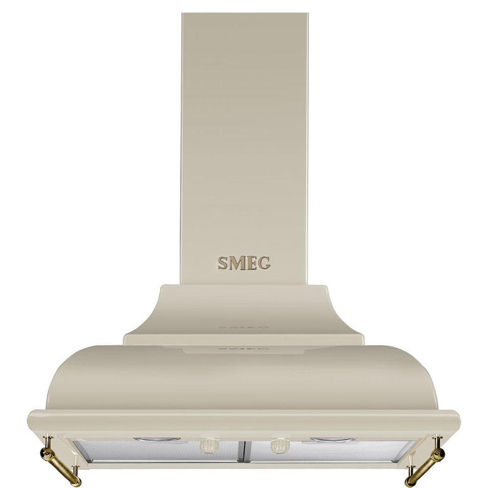 Вытяжка настенная Smeg KC16POE кремовая