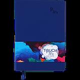 Блокнот ділової TOUCH ME А5 96арк. чистий, позов. шкіра, т.-синій, фото 2