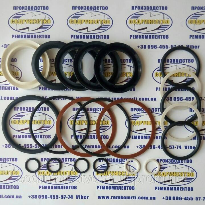 Ремкомплект гидроцилиндра поворота колёс (ГЦ 80*45) Т-151К / Т-150 (шевронные манжеты штока d-45 резиноткань)