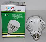 Світлодіодна лампа з аварійним живленням 12W, фото 5
