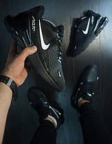Кроссовки мужские Nike 270  черные белый знак топ реплика, фото 3