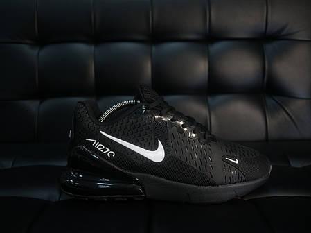Кроссовки мужские Nike 270  черные белый знак топ реплика, фото 2