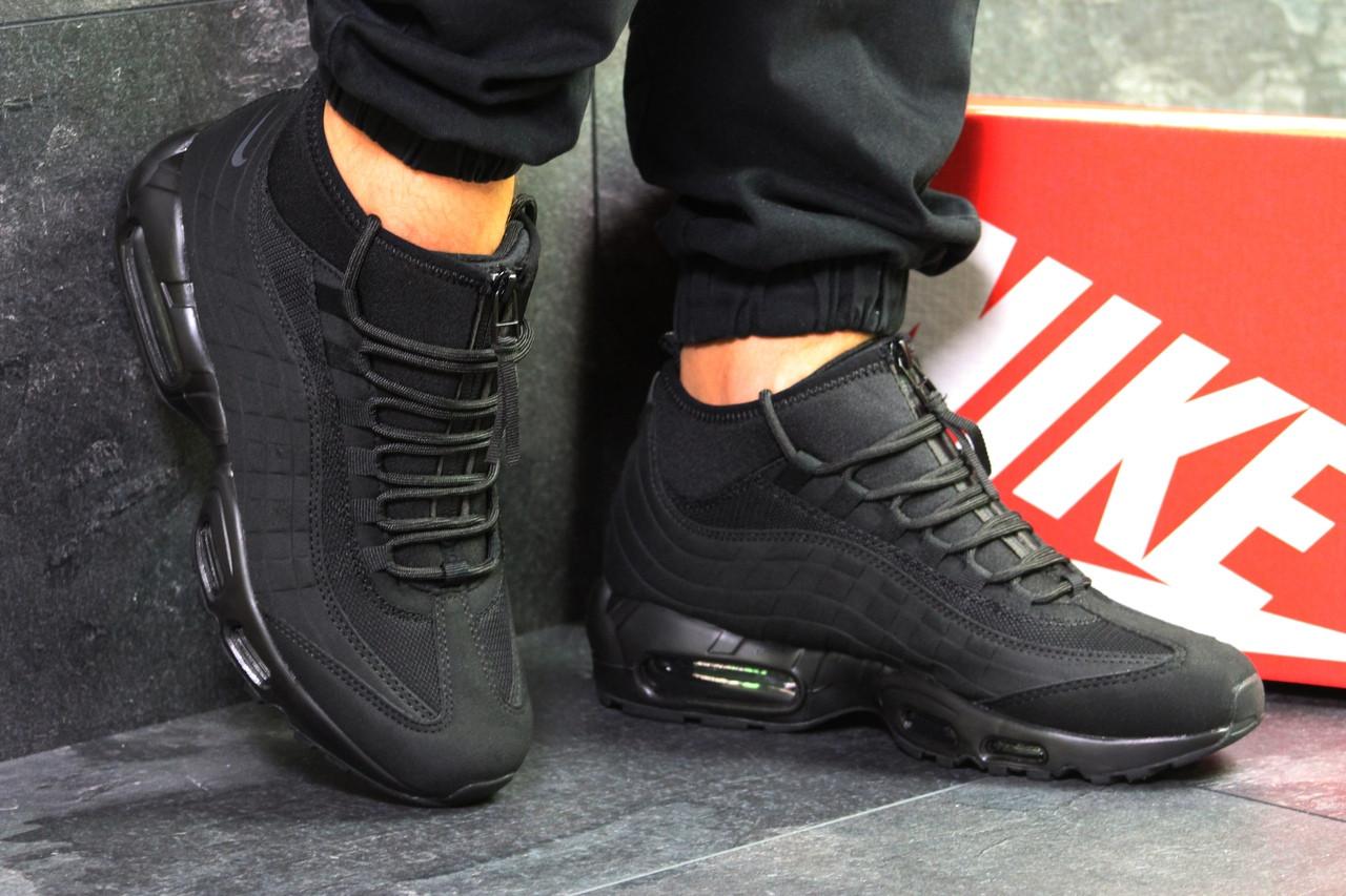 Кроссовки в стиле Nike 95  Sneakerboot (черные) термо кроссовки код товара 6288