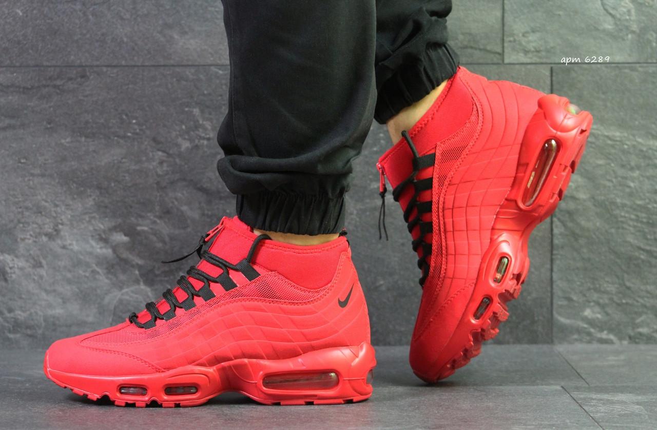 Кроссовки в стиле Nike 95 Sneakerboot (красные) термо кроссовки код товара 6289